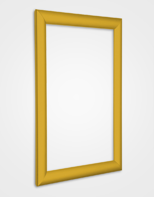 25mm Bespoke Colour Snap Frame / Gold Anodised