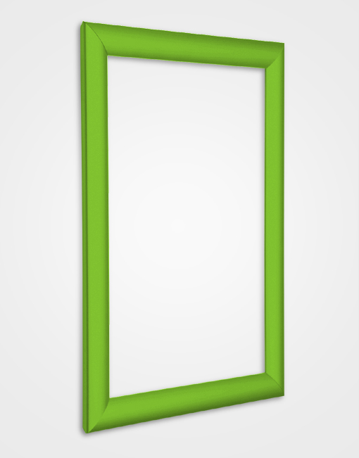 25mm Bespoke Colour Snap Frame / Traffic Green