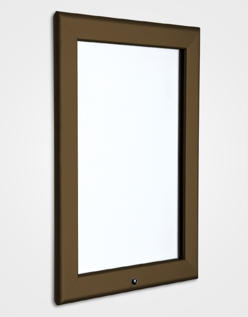 32mm Colour Lockable Snap Frame / Chocolate Brown