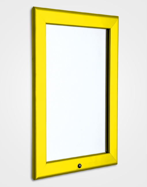 32mm Colour Lockable Snap Frame / Rape Yellow