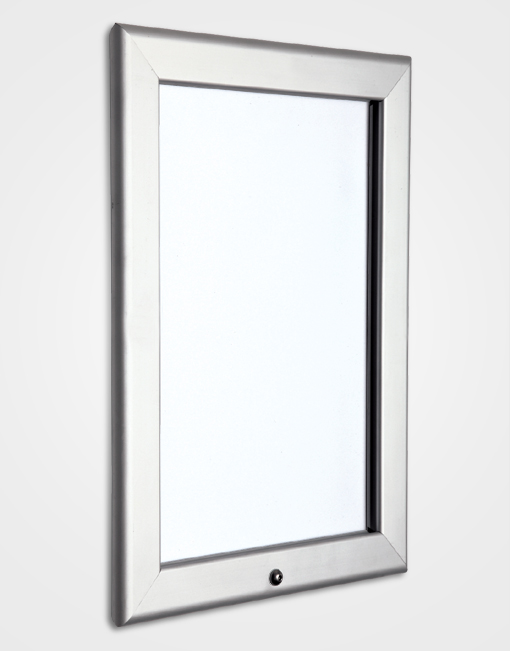 32mm Colour Lockable Snap Frame / Silver Anodised