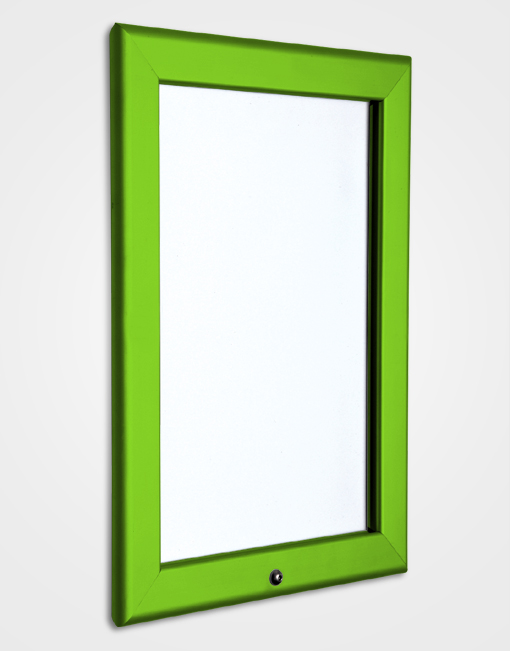 32mm Colour Lockable Snap Frame / Traffic Green