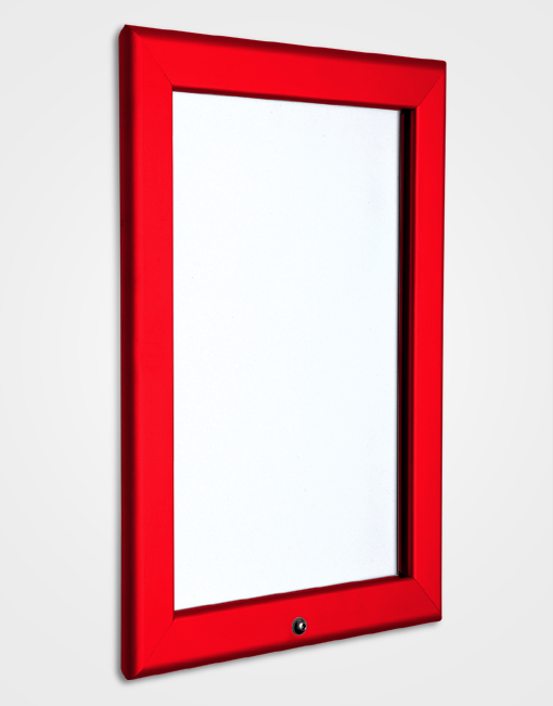 32mm Colour Lockable Snap Frame / Traffic Red