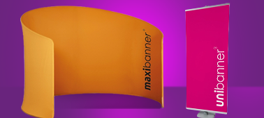 Maxi banners, roller banners and aluminium sign systems