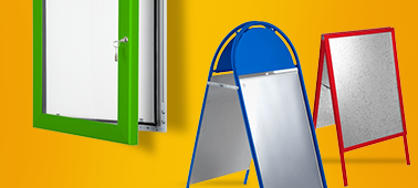 Lockable frames, pavements boards and Snap frames
