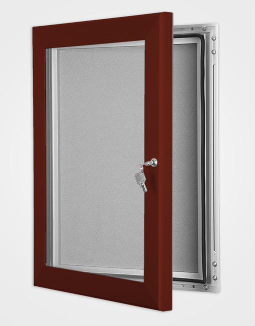 Colour Key Lock Pin Board Frame / Red Brown