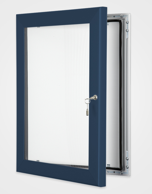 Colour Key Lock Poster Frame / Gentian Blue
