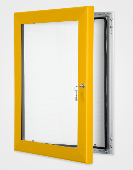 Colour Key Lock Poster Frame / Gold Anodised