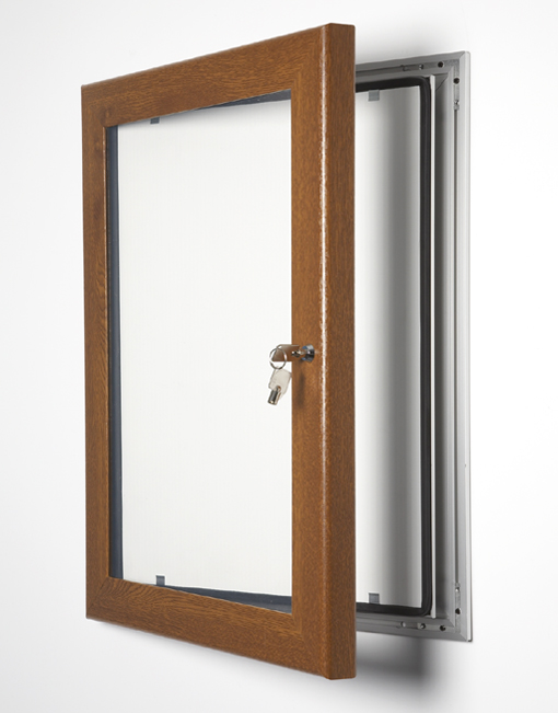Colour Key Lock Poster Frame / Golden Oak