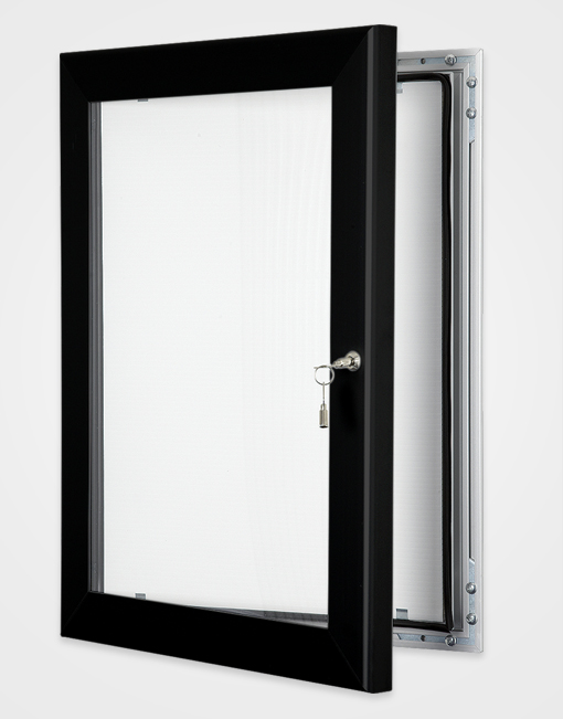 Colour Key Lock Poster Frame / Jet Black
