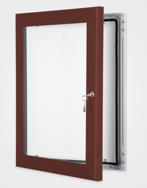 Colour Key Lock Poster Frame / Red Brown