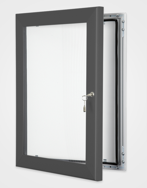 Colour Key Lock Poster Frame / Slate Grey