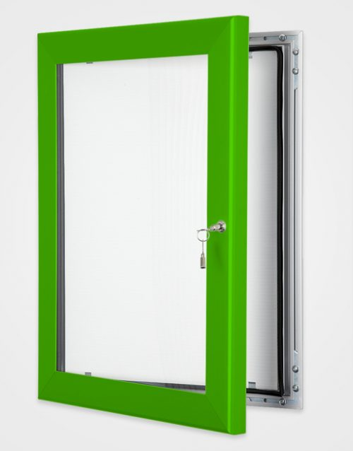 Colour Key Lock Poster Frame / Traffic Green