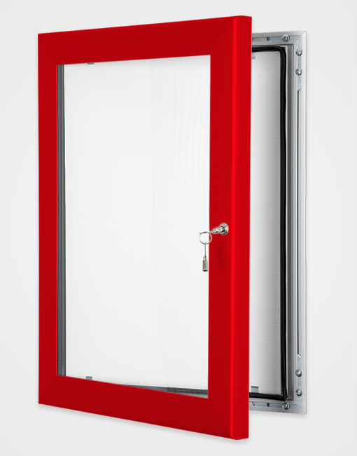 Colour Key Lock Poster Frame / Traffic Red
