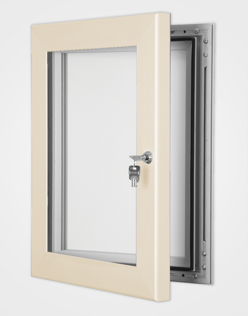 Colour Secure Lock Magnetic Frame / Cream