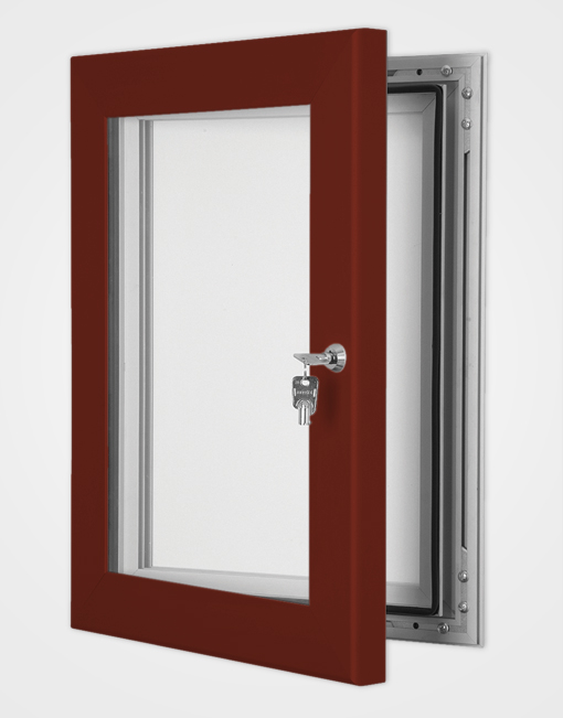 Colour Secure Lock Magnetic Frame / Red Brown