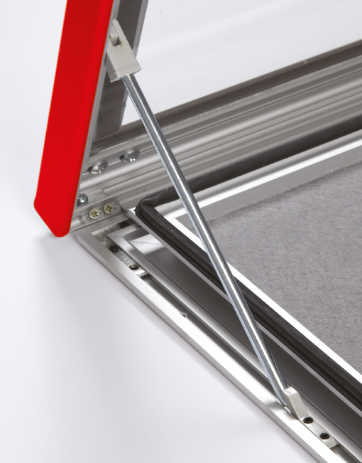 Colour Secure Lock Pin Board Frame / Close Up