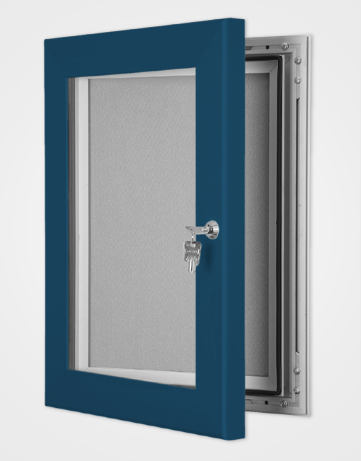 Colour Secure Lock Pin Board Frame / Gentian Blue