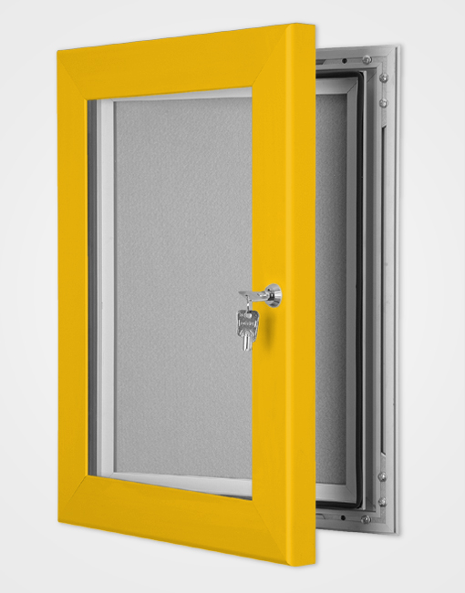 Colour Secure Lock Pin Board Frame / Gold Anodised