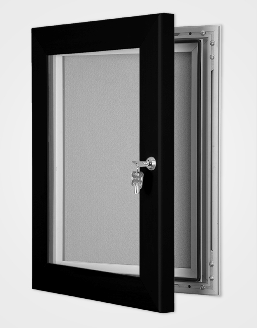 Colour Secure Lock Pin Board Frame / Jet Black