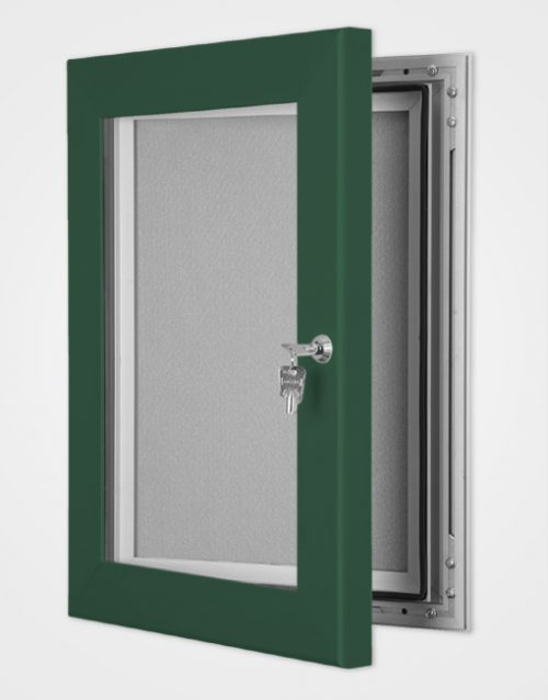 Colour Secure Lock Pin Board Frame / Moss Green