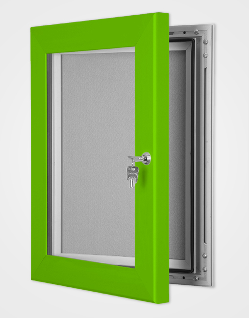 Colour Secure Lock Pin Board Frame / Traffic Green