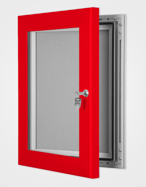 Colour Secure Lock Pin Board Frame / Traffic Red