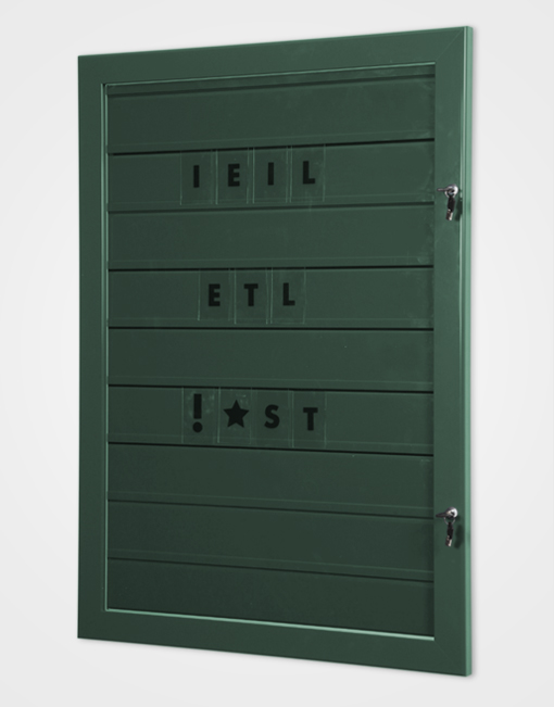 Grippit Lockable Frame Tile Sign / Moss Green