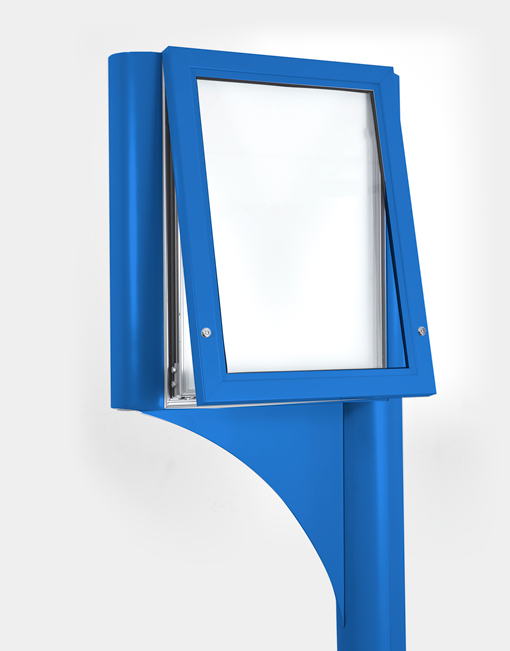 post mounted magnetic frame